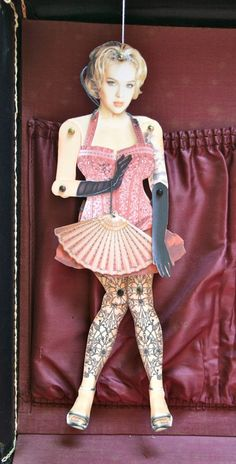 burlesque paper doll trio DOWNLOAD by novelatelier on Etsy