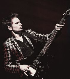 The Lead singer of Rock Band Muse. He's wearing that blazer! @Sydney Martin Bozeman