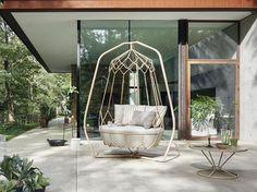 GRAVITY Steel garden swing seat by Roberti Rattan design Technical Emotions