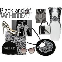 """It's Black and White"" by mymagnifico.com on Polyvore"