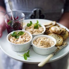 Smoked trout pate with beetroot relish - on my Christmas menu! Smoked Trout Pate, Beetroot Relish, Sage Butter, No Cook Appetizers, Relish Recipes, Light Snacks, Cooking Wine, English Food, Original Recipe
