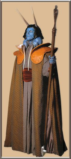"Carved leather collar made for the character Mas Amedda for the film ""Star Wars Revenge of the Sith"