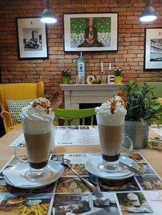 Marica kávé csokoládéval, karamellel #veszprem #hausbrandt #coffee