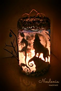 the Howling Healer candle lantern  by Noulenia