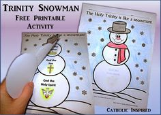 Trinity Snowman Printable Activity ~ Catholic Inspired More