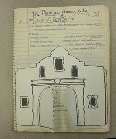 This fantastic lesson plan on the Mexican American War & the Battle of the Alamo includes a PowerPoint and printable graphic organizer of the Alamo so students can take notes about what went on INSIDE and outside the Alamo during the war. Great to help students visually engage with the material and work hands on!