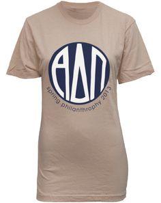 Alpha Delta Pi Letter Philanthropy Shirt