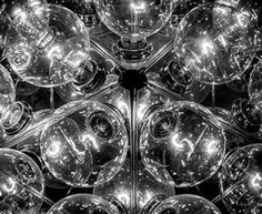 To Infinity and Beyond   Again, that photographic eye of +James Aiken  that takes an everyday object into fine art. Beautiful black and white processing across the zones.   #abstractart #fineartphotography #lightbulbs via @jamesaiken09