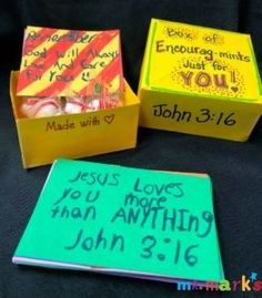 """It's always a great time to give encouragement. Here's an idea for kids to make a box of """"Encourage-Mints"""" to encourage someone. #Thankfulness #Appreciation #Encouragement #KidsCraft #TeacherGift #KidMin #MrMarksClassroom  Encourage-Mints 