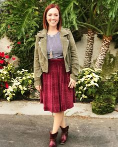 More elegant collection today!! This velvet Madison skirt is everything!!! I dressed it down today by adding a striped top, suede jacket and super cute @freebirdboots!! I'm obsessed with it!! 😍😍😍 Folow @fashionbookface   Folow @salevenue   Folow @iphonealiexpress   ________________________________  @channingtatum @voguemagazine @shawnmendes @laudyacynthiabella @elliegoulding @britneyspears @victoriabeckham @amberrose @raffinagita1717 @ivetesangalo @manchesterunited @louisvuitton…