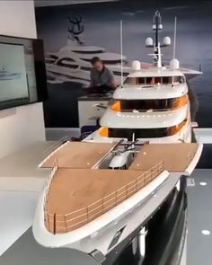Love Luxury? Then check out this insane Yacht. If you want to learn more about how own luxury items, but NOT pay crazy prices then check out the blog post  #buyingcars #buyingcartips #exoticcars #carbuyingtips #carbuyinghacks #luxurycars #travel #boat Model Ship Building, Boat Building, Yacht Design, Boat Design, Private Yacht, Private Jet, Exotic Sports Cars, Cool Boats, Suspension Design