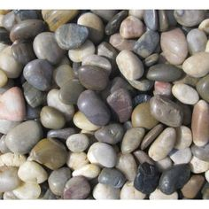 $20 - MS International Mixed Polished Pebbles Small - 40 lb. Bag-LPEBMMIX3POL40 at The Home Depot - covers about 0.5 cu. ft.