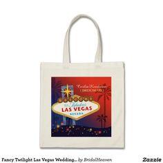 Fancy Twilight Las Vegas Wedding Bridesmaids Gift Budget Tote Bag. #LasVegas #wedding #bridalshower #bridesmaid #maidofhonor #gift #zazzle