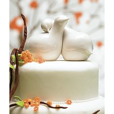 Contemporary Love Birds Cake Topper UK - WeddingSOON