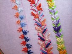 Hand Embroidery Designs | Basic embroidery stitches # Part-7 | Stitch and Flower-79 - YouTube