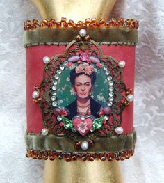 Lilygrace Frida Kahlo Art Cuff with by LilygraceOriginals on Etsy, $70.00