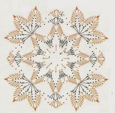 Crochet Snowflake Pattern, Crochet Motif Patterns, Crochet Leaves, Crochet Snowflakes, Crochet Blocks, Lace Patterns, Crochet Yarn, Crochet Flowers, Irish Crochet Charts