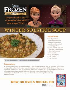 Anna and Elsa's Winter Solstice Soup.