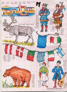 Gallery.ru / Photo # 22 - ENCICLOPEDIA ITALIANA 3 - KIM-2 Free Cross Stitch Charts, Funny Cross Stitch Patterns, Cross Stitch Borders, Cross Stitch Alphabet, Cross Stitch Designs, Cross Stitching, Cross Stitch Embroidery, Small Cross Stitch, Needlework