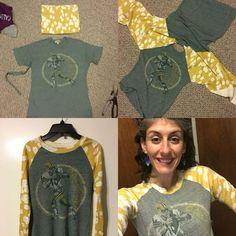 DIY Workout Shirt, Diy And Crafts, Packer shirt for women DIY raglan T-shirt refashion T-shirt Refashion, Diy Clothes Refashion, Diy Clothing, Sewing Clothes, Refashioned Clothes, Refashioned Tshirt, Thrift Store Refashion, Umgestaltete Shirts, Diy Clothes Videos