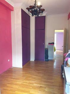Ενοικίαση Διαμερίσματος Αμπελόκηποι - Αγγελία 9034749 | Tospitimou.gr Interior Decorating, Decorating Ideas, Pink Room, Room Interior, Rooms, Interiors, Purple, Bedrooms, Decoration Home