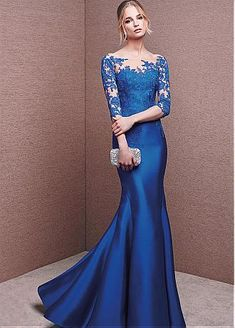 Evening Dresses For Teens Prom Dresses Blue Long Prom Dresses Prom Dresses Lace Mermaid Prom Dresses Prom Dresses Long Royal Blue Prom Dresses, Prom Dresses For Teens, Elegant Prom Dresses, Lace Party Dresses, Formal Evening Dresses, Formal Gowns, Beautiful Dresses, Evening Gowns, Bride Dresses