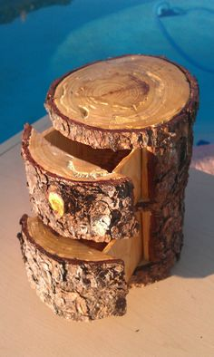 Large natural Pine Jewelry Box 2 Hidden Drawers by WoodOlBoys