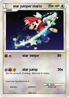Pokemon star jumper mario