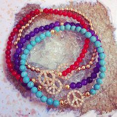 Gold Peace Bracelet  ten10jewelry.etsy.com