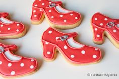 Galletas decoradas zapato flamenco