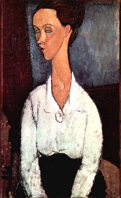 Portrait by Modigliani.