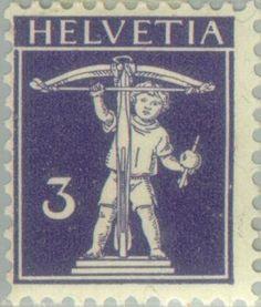 Znaczek: Tell, Wilhelm (Szwajcaria) (William Tell) Mi:CH 112I,Sn:CH 147,Yt:CH 129,Zum:CH 118