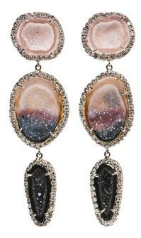 beautiful ombre-colored geode earrings!
