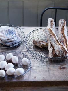 Set Of Three Shallow Wire Baskets - Kitchen Essentials - Kitchen & Dining - Home