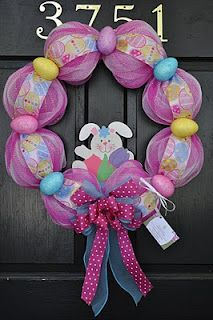 easter wreath!too cute need to remember for next year