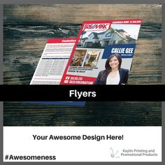 Flyers printed and personalized with your custom imprint or logo.