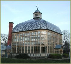 Druid Hill Park Conservatory in Baltimore, MD, was completed in 1888. It is one of the oldest surviving glass conservatories in the United States.
