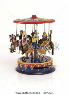 tin toys antique | Antique Tin Toy Of A Merry-Go-Round Stock Photo 2979521 : Shutterstock