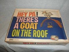 Rare 1966 Parker Brothers HEY PA, THERE'S A GOAT ON THE ROOF, Complete & Nice MB