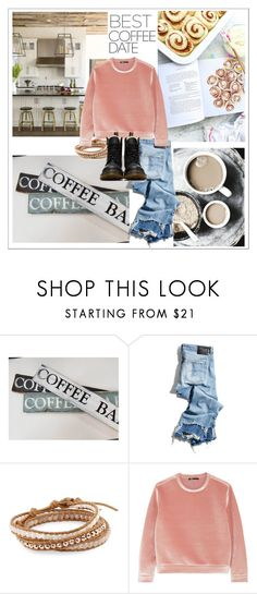 """""""coffee please"""" by theworldisatourfeet ❤ liked on Polyvore featuring Coffee Shop, R13, Chan Luu, Maje, Dr. Martens, polyvoreeditorial and CoffeeDate"""