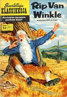 Cover for Classics Illustrated (Gilberton, 1947 series) [HRN - Rip Van Winkle Literary Characters, Comic Book Characters, Comic Books, Children's Books, Old Comics, Vintage Comics, Vintage Magazines, Vintage Books, Creepy Comics