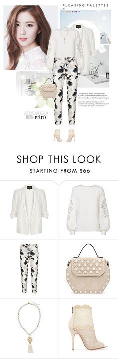 """""""Monday morning"""" by girl-with-ideas ❤ liked on Polyvore featuring River Island, Oscar de la Renta, Weekend Max Mara, Chico's and Chinese Laundry"""