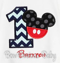 Mickey Mouse Birthday Shirt Mickey Mouse by bowdaciousbaby on Etsy, $22.00