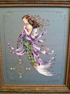 Cross stitch Mirabilia mermaid