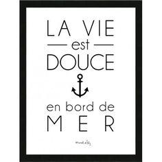 """Affiche """"La vie est douce en bord de mer"""""""
