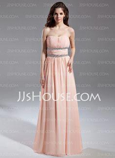 Prom Dresses - $136.99 - A-Line/Princess Strapless Floor-Length Chiffon Prom Dress With Ruffle Beading (018015615) http://jjshouse.com/A-Line-Princess-Strapless-Floor-Length-Chiffon-Prom-Dress-With-Ruffle-Beading-018015615-g15615