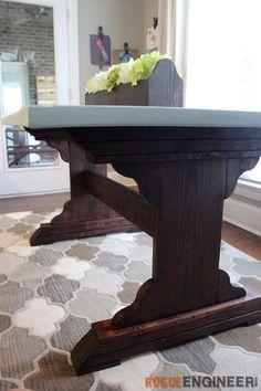 Monastery Dining Table   Free DIY Plans   rogueengineer.com #DIYdiningtable #DiningroomDIYplans