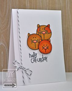 Happy Caturday by atsamom—The Alley Way Stamps Sittin' Pretty