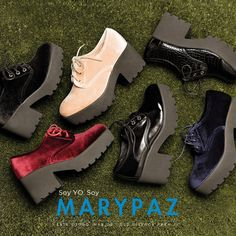 Soy YO. Soy MARYPAZ  ¡¡Más de mil diseños para ti!! Podrás encontrar el zapato ideal para cada ocasión sea cual sea tu estilo. ¡No te quedes sin tus imprescindibles! #SoyYoSoyMARYPAZ #Follow #winter #love #otoño #fashion #colour #tendencias #marypaz #locaporlamoda #BFF #igers #moda #zapatos #trendy #look #itgirl #invierno #AW16 #igersoftheday #girl #autumn Disponibles en tienda y en MARYPAZ.COM