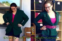 Emerald Blazer Refashion   Diary of a MadMama